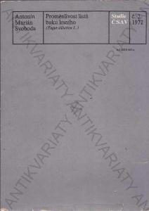 Proměnlivost listů buku lesního Svoboda 1972