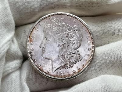 "1 Dollar 1881 ""Morgan Dollar"" - San Francisco, Ag 900, 26,73 g, 38,1mm"