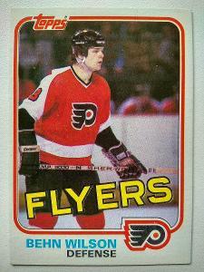 Behn Wilson #45 Philadelphia Flyers 1981/82 Topps
