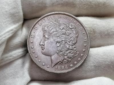 "1 Dollar 1884 ""Morgan Dollar"" - New Orleans, Ag 900, 26,73 g, 38,1 mm"