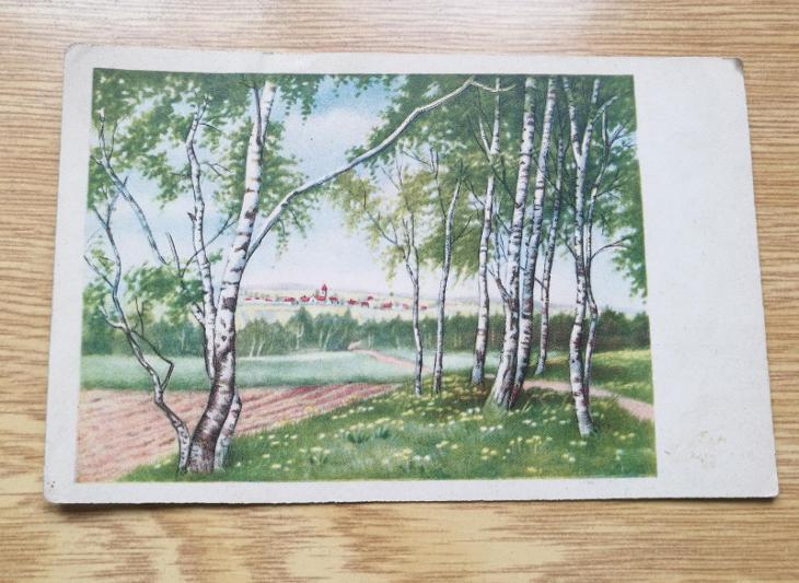 Pohled   Teplice Lázně 1950 - Pohlednice