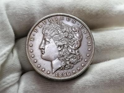 """1 Dollar 1896 """"Morgan Dollar"""" - Philadelphia, Ag 900, 26,73 g, 38,1 mm"""