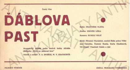 Ďáblova past film plakát A4 Vláčil Liška Macháček