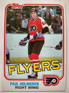 Paul Holmgren #105E Philadelphia Flyers 1981/82 Topps