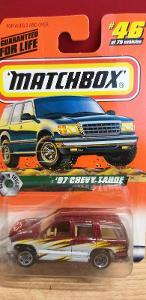 MATCHBOX ´´ 97 CHEVY TAHOE ´´ 1998 #46