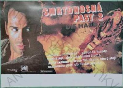 Smrtonosná past Die Hard 2 film plakát A4  Willis