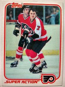 Bill Barber #123E Philadelphia Flyers 1981/82 Topps