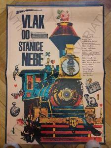 Vlak do stanice Nebe film plakát Karel Vaca 1972