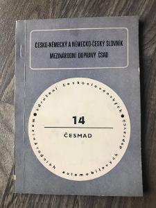 ČESKO NĚMECKÝ SLOVNÍK DOPRAVCŮ ČSAD 1976