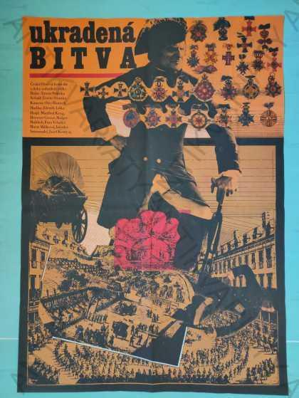 Ukradená bitva Zdeněk Ziegler film plakát A1 Liška - Antikvariát