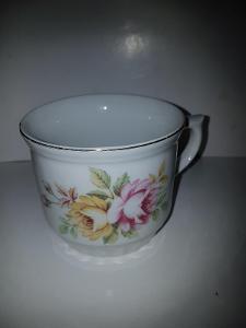 hrnek 400 ml s květy porcelán, Bohemia Dubí