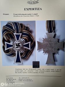 Čestný kříž německé matky 2. stupeň + expertiza