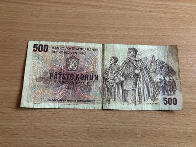 500 Kčs bankovka serie Z45