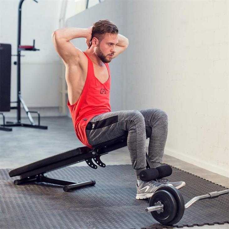 tectake 402268 multifunkční posilovací lavice - černá - Posilování, fitness a trampolíny