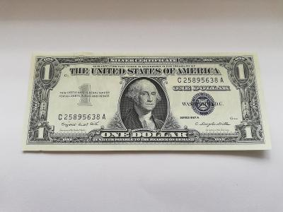 2 x USA 1 Dollar stříbrný certifikát 1957 A  + 1 x 1 Dollar 1935 F