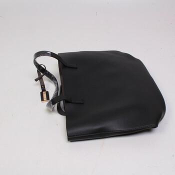Dámská koženková kabelka na rameno černá