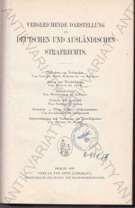 Vergleichende darstellung des deutschen 1908