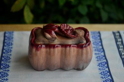 Dóza na bonbóny a sladkosti Strehla Keramik VEB (Keramika)