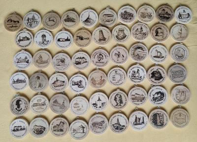 Turistické známky 55 kusů