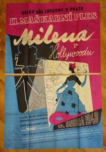 Milena v Hollywoodu Lucerna ples 1948 obrplakát