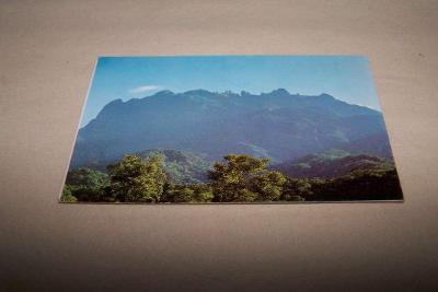 SINGAPORE THE FAMOUS KINABALU MOUNTAIN OF SABAH/rub i líc /Ř21G/