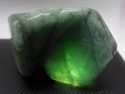 Smaragd XL Beryl - Krystal přírodní Drahokam Tromlovaný 43 g TOP A+++
