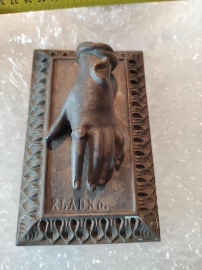 Stará bronzová ruka KLADNO - Ostatní