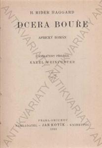 Dcera bouře H. Rider Haggard Jan Kotík 1921