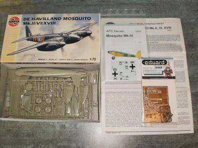 De Haviland Mosquito Airfix 1:72 + plechy