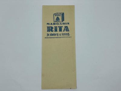 Účtenka reklama RITA margarín