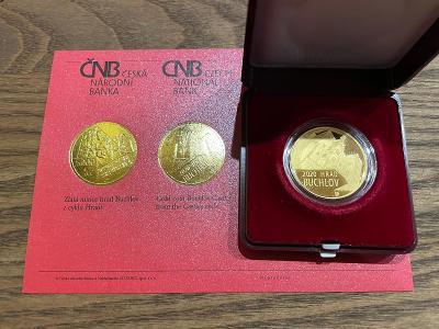 Zlatá mince 5000Kč hrad Buchlov  2020 PROOF.