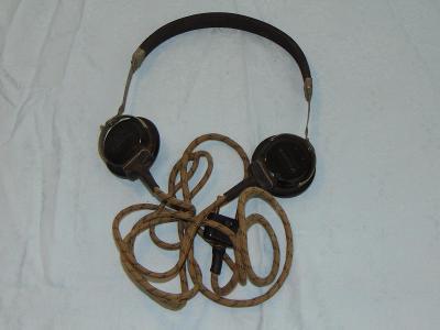 Staré rádio sluchátka
