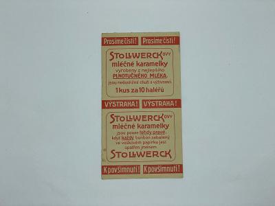 Účtenka reklama Stollwerck karamelky bonbon bonbony