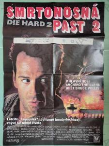 Smrtonosná past 2 Die Hard 2 film plakát A1 Willis