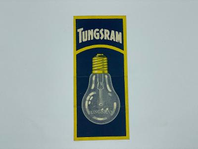 Účtenka reklama TUNGSRAM žárovka žárovky