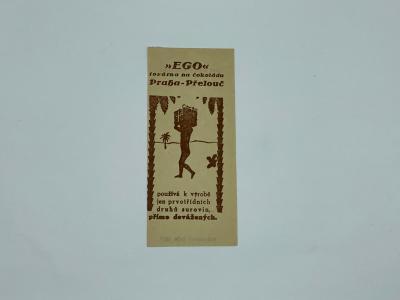 Účtenka reklama Ego Praha Přelouč továrna čokoláda