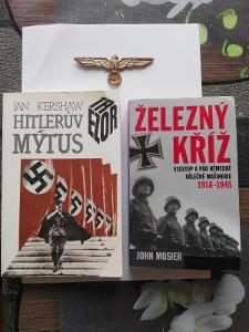 2 knihy +replika nacistické orlice pouze česká rep.