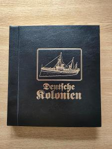 Zasklené album Německé kolonie / Deutsche Kolonien / jako nové