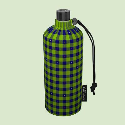 Emil - die Flasche® Skleněná láhev na nápoje v termoobalu KARO 0,4L