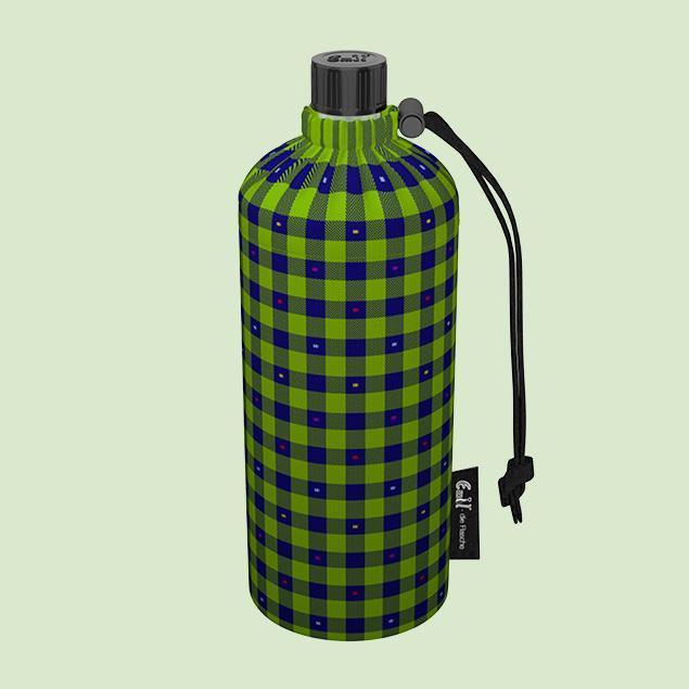 Emil - die Flasche® Skleněná láhev na nápoje v termoobalu KARO 0,4L   - Turistika a cestování