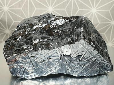 Velké Silicium čistý křemík 99,99% kvalita 95x45x57mm Minerál Minerály