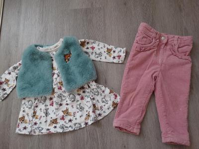 Šaty,vesta,kalhoty-vel.74