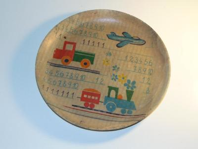 Starý dětský talířek do sbírky