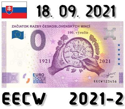 0 Euro Souvenir | ZAČIATOK RAZBY ČESKOSLOVENSKÝCH MINCÍ | EECW | 2021