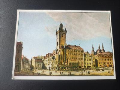 Pohlednice umělecká - Vincenc Morstadt - Staroměstská radnice - Praha