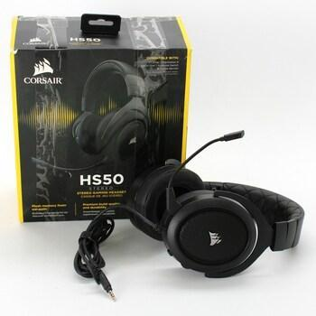 Herní sluchátka Corsair HS50 černá