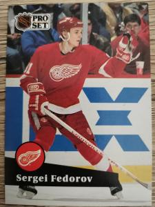Karta Pro Set 91-92 č. 53 Sergei Fedorov