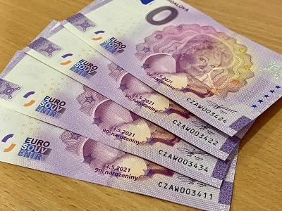 0 Euro Jiřina Bohdalová 4ks - zajímavá čísla