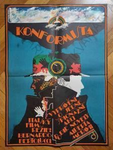 Konformista Miroslav Pechánek film plakát A1 1972