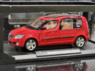 nový model ŠKODA Roomster 1:18 červený (Red Corrida) Abrex